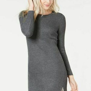 Bar lll Dress Gray Sweater Chains Boat Neck Sz M